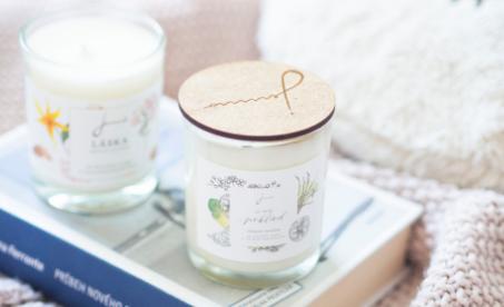 Výnimočné, ručne odlievané sójové sviečky Jemnô