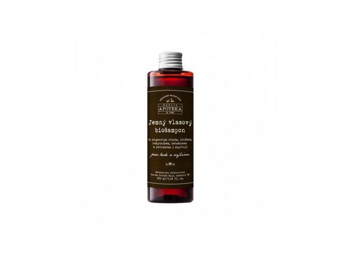 Jemný vlasový biošampón na mastné vlasy - 200 ml