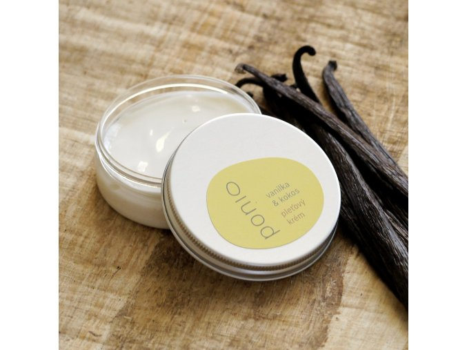 Vanilka a kokos - pleťový krém