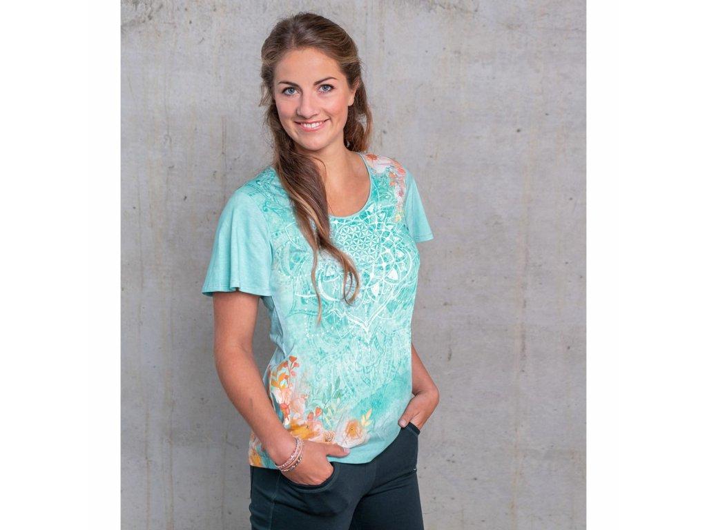 Tričko z bio bavlny - zelené (Velikost XXL)