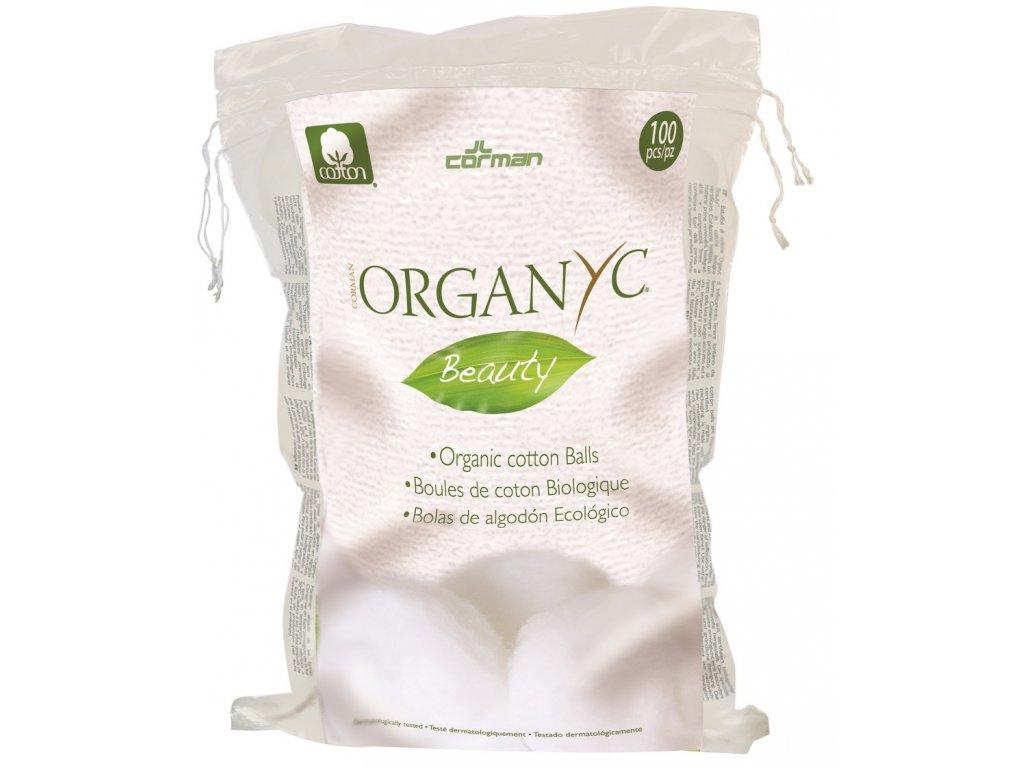 Corman - ORGANYC Bio Organyc odličovací vatové tampony