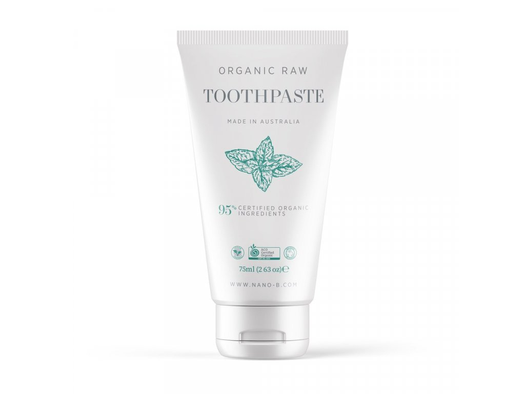 Nano b Organic Mint Toothpaste mock up