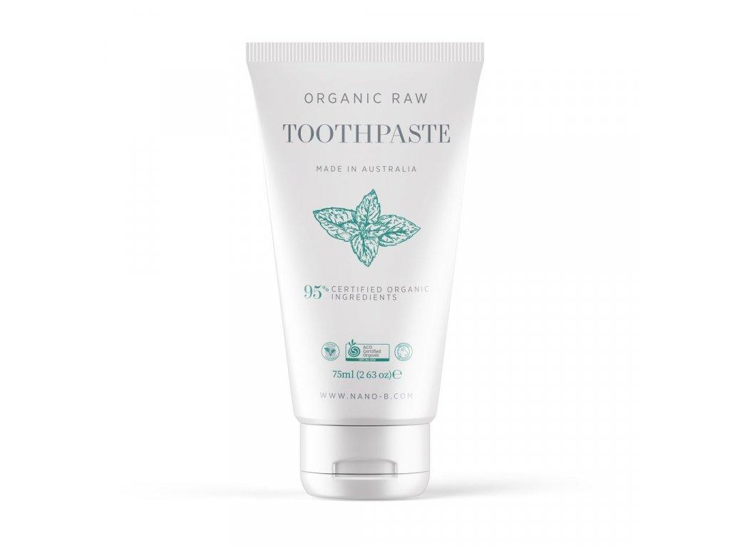 Nano b Organic Mint Toothpaste mock up
