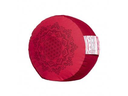 6123 meditacni polstar z bio bavlny a polodrahokamy bordovo cerveny
