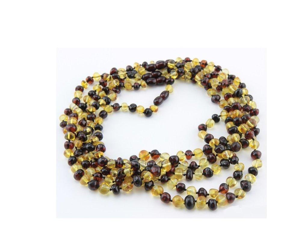 ea28ad35b Jantarový náhrdelník ve tvaru baroko, v barvě multi 2, dlouhý cca ...