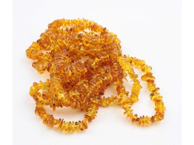 jantarovy naramek tvar chips med