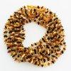 Jantarové korálky pro děti, tvar chips v barvě MÍCHANÉ, cca 30-32 cm