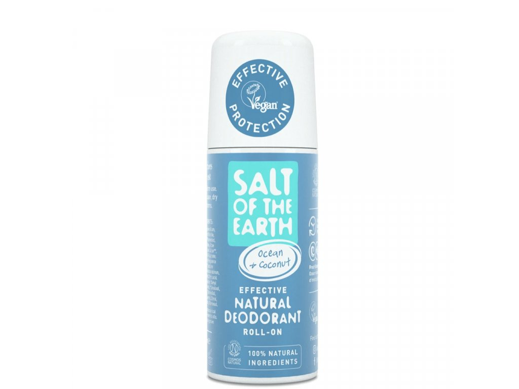 Ocean Coconut Natural Deodorant Roll On 75ml front 5000x