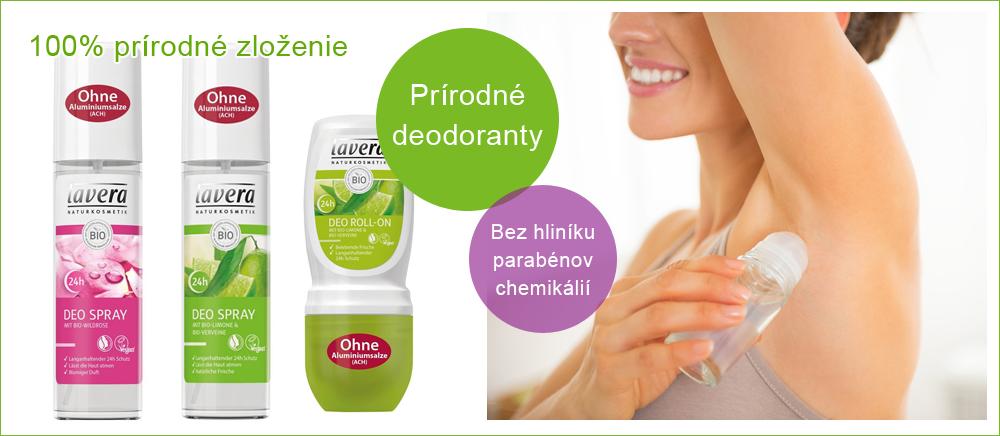 Prírodné deodoranty Lavera