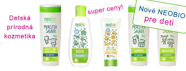 Detská kozmetika Neobio