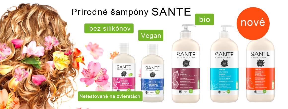 Prírodné šampóny Sante