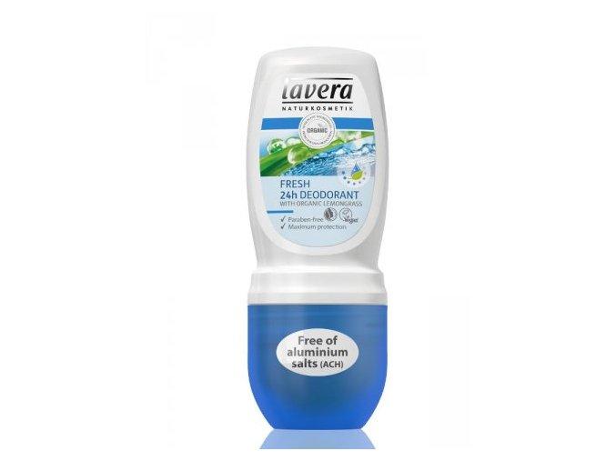 Deodorant roll-on Fresh 24h  - Lavera (Objem 50 ml)