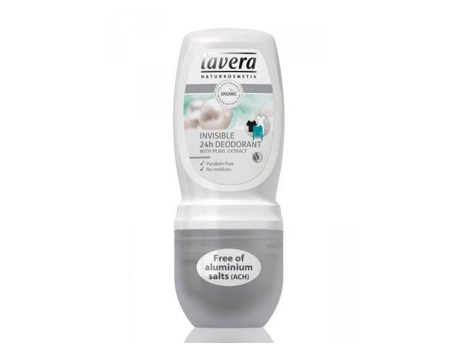 Deodorant roll-on Invisible 24h  - Lavera (Objem 50 ml)
