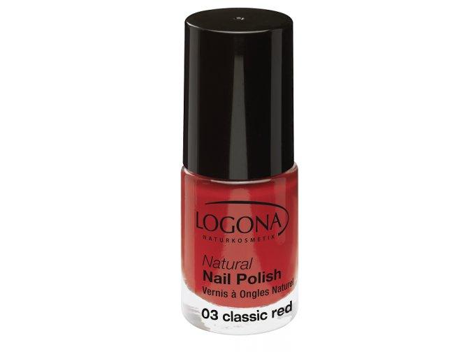Lak na nechty 03 Classic Red LOGONA (Obsah 4 ml)