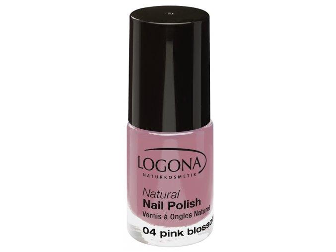 Lak na nechty 04 Pink Blossom LOGONA (Obsah 4 ml)