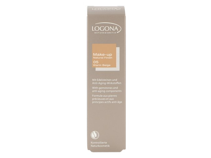 Make-up Natural Finish 05, warm beige LOGONA (Objem 30 ml)