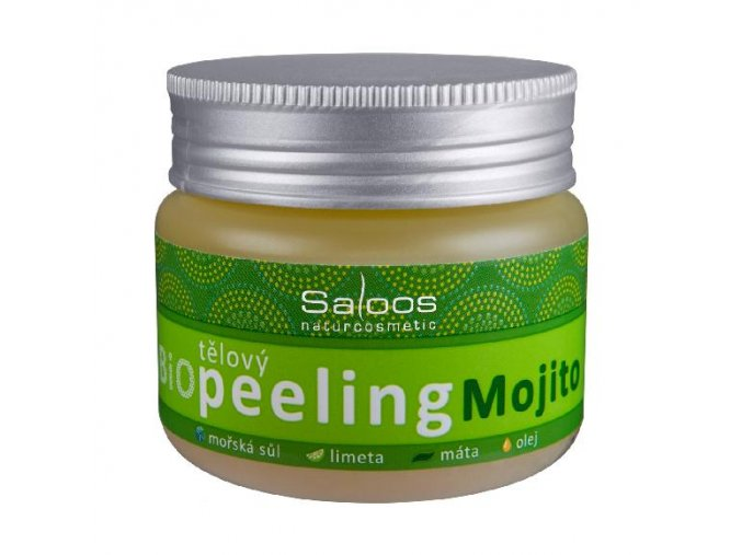 Telový peeling Mojito - Saloos (Objem 140 ml)
