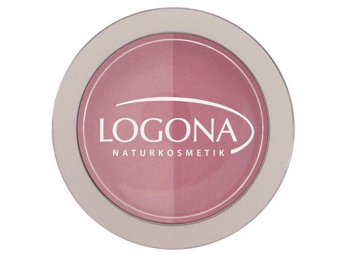 Farba na líčka 01 pink- rose LOGONA (Objem 10 g)