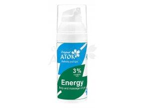 Telový a masážny oleogel Energy - Original ATOK (Obsah 50 ml)