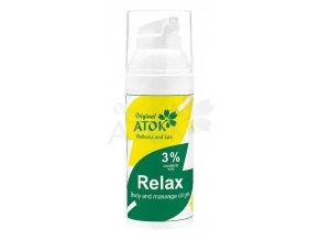 Telový a masážny oleogel Relax - Original ATOK (Obsah 50 ml)