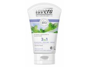 Čistenie + peeling + maska 3v1 - Lavera (Objem 125 ml)