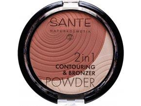contouring bronzing puder medium light sante