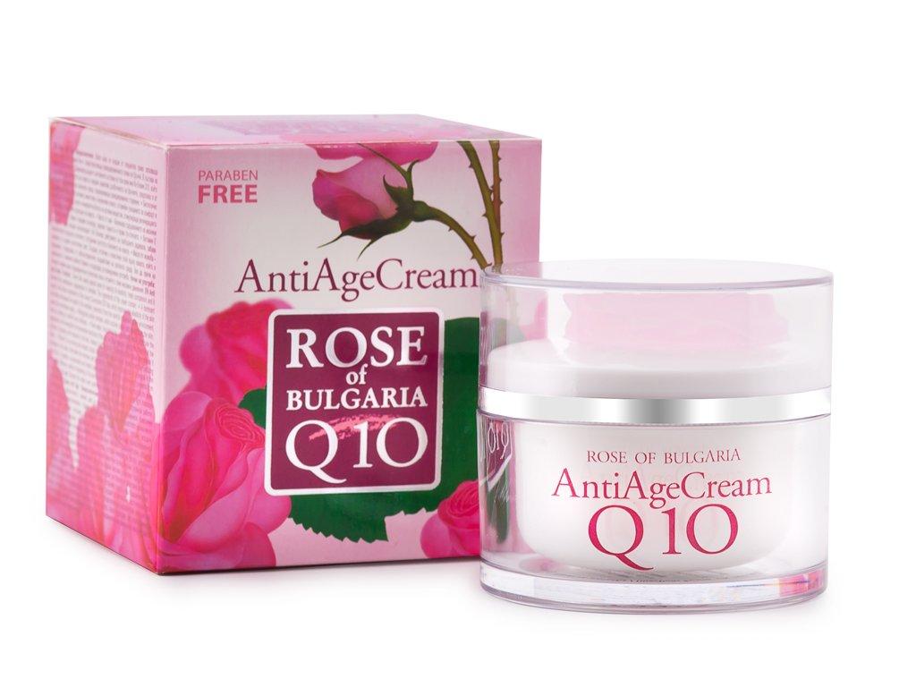 544 1 anti age krem s koenzymem q10 s ruzovou vodou rose of bulgaria 50 ml