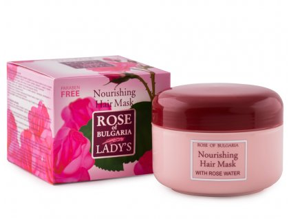580 1 regeneracni maska na vlasy s ruzovou vodou rose of bulgaria 330 ml