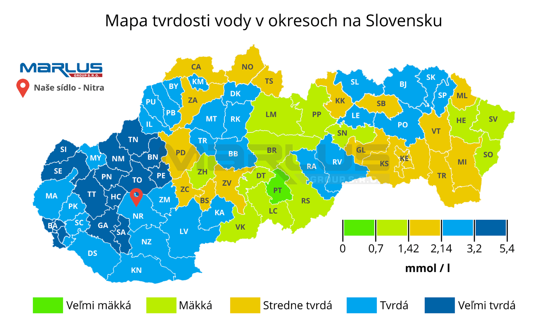 Mapa tvrdosti