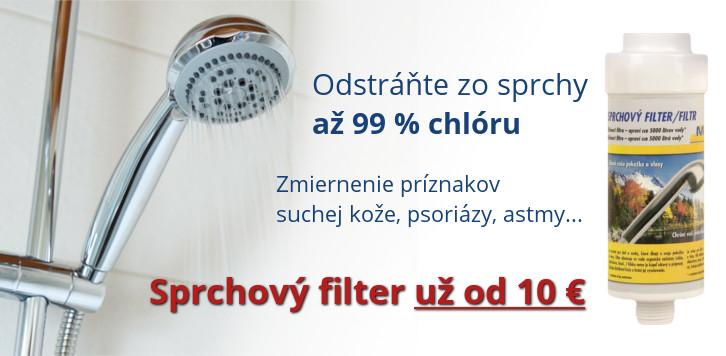 Sprchový filter na chlór