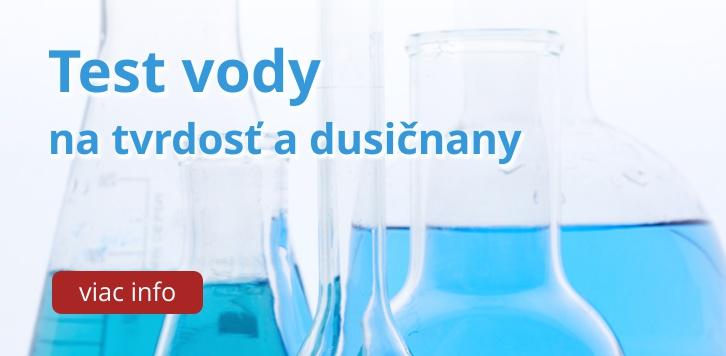 Test vody na tvrdosť a dusičnany