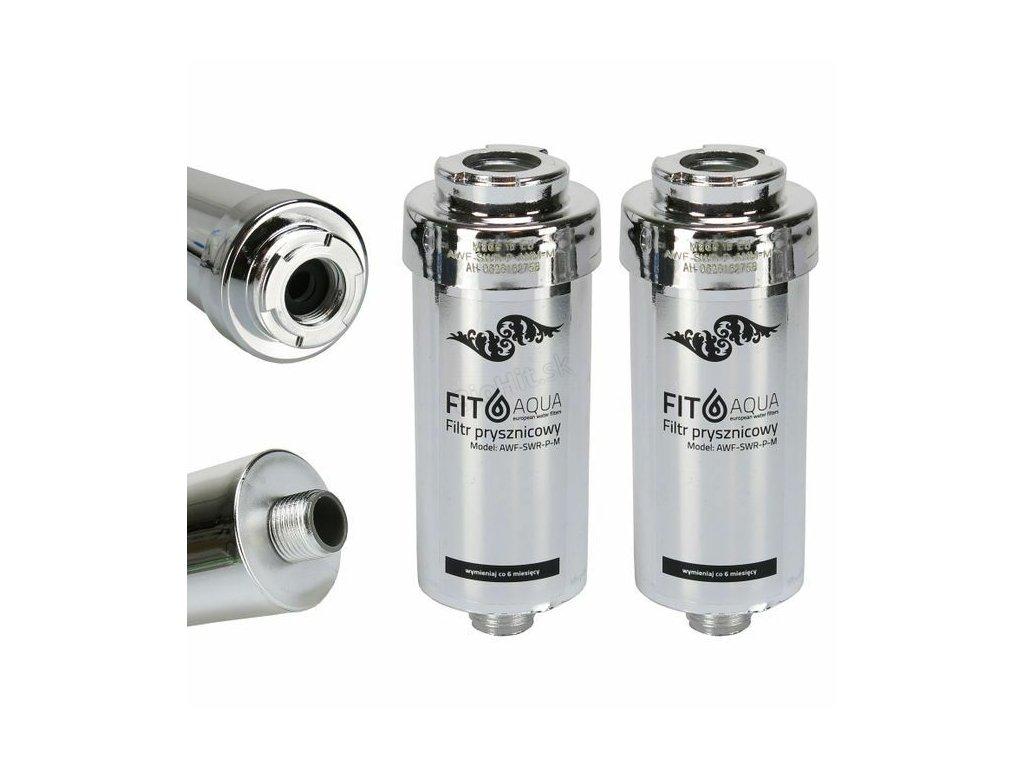 2x Fitaqua Shower Filter Chrome Water Limestone Chlorine AWF SWR P ANM M