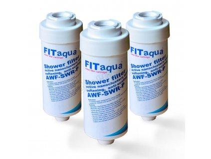3x Duschfilter FitAqua Wasserfilter zum Wohle Ihrer Haut FitAqua Duschfilter 4