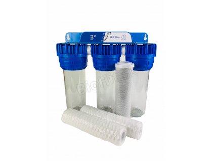 Trio filter na vodu s uhlíkom
