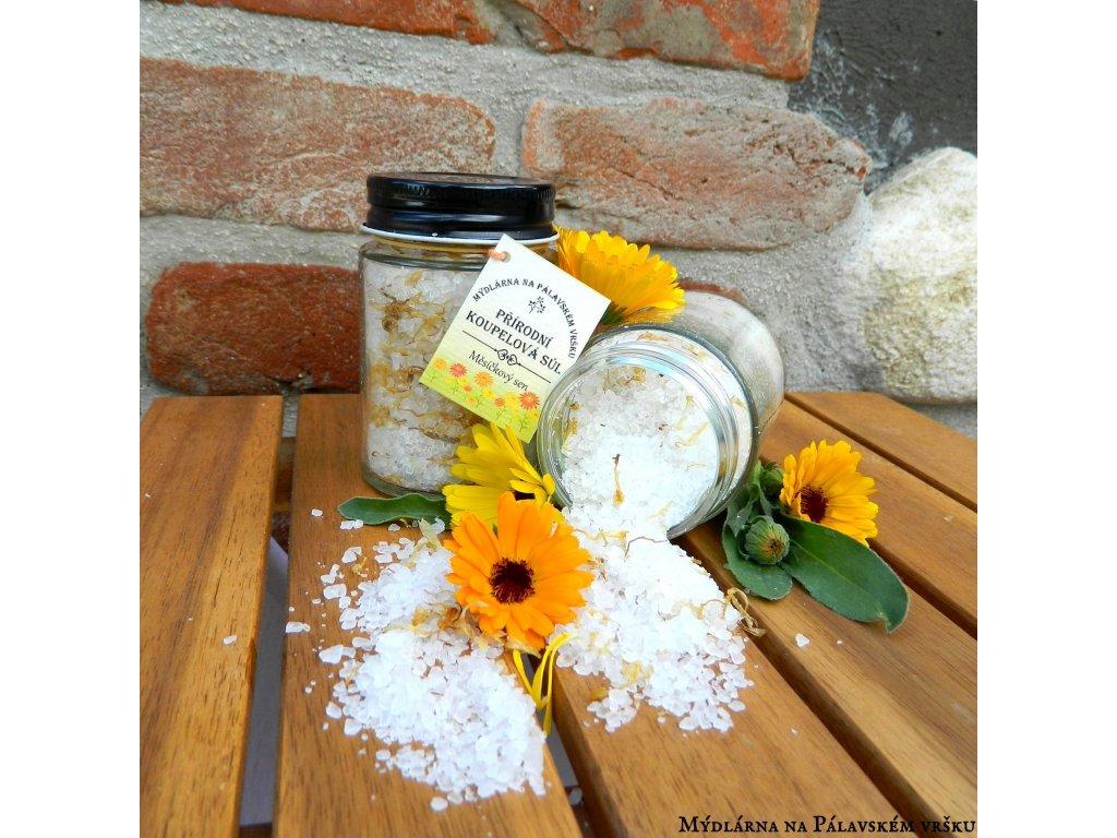 Mýdlárna na Pálavském vršku koupelová sůl Měsíčkový sen 164ml