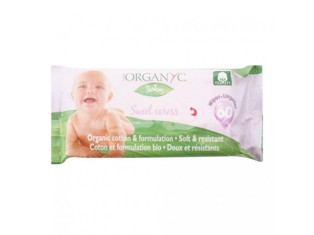 Dětské čisticí ubrousky 60 ks BIO bavlna   ORGANYC