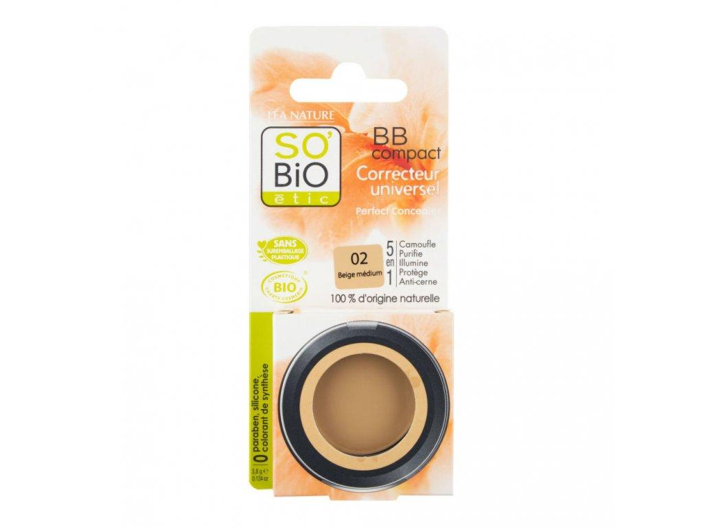 SO'BiO étic BB korektor 02 béžová střední 3,8 g BIO