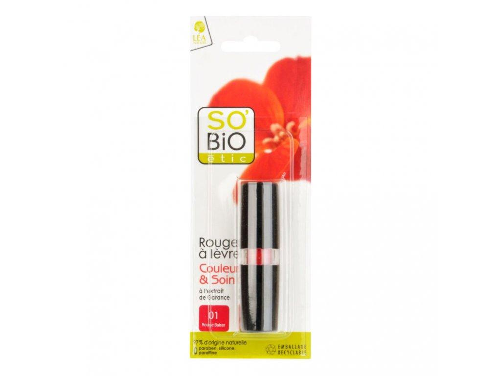 SO'BiO étic Rtěnka 01 rouge 4,5 g BIO