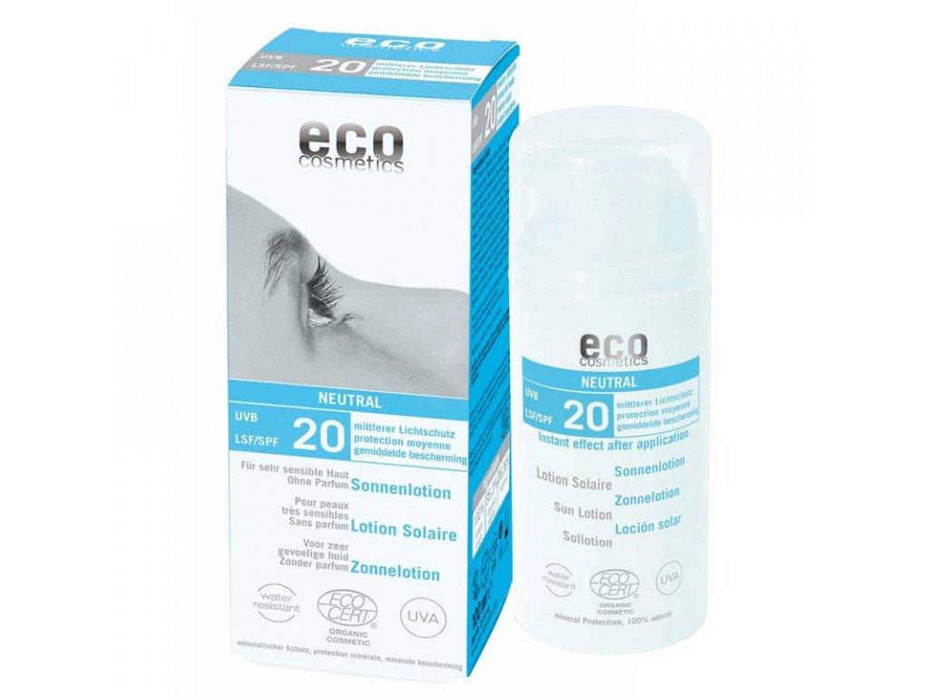 Eco Cosmetics Mléko na opalování Neutral bez parfemace SPF 20 BIO (100ml)