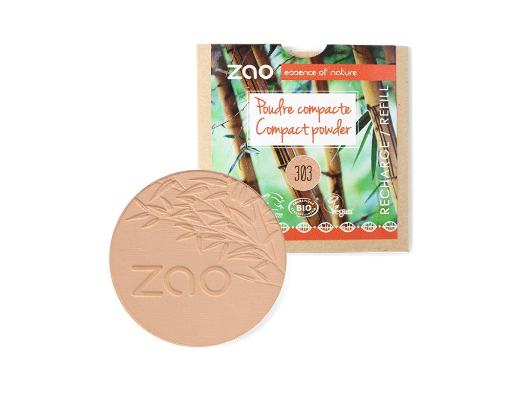ZAO Kompaktní pudr 303 Brown Beige 9 g náplň