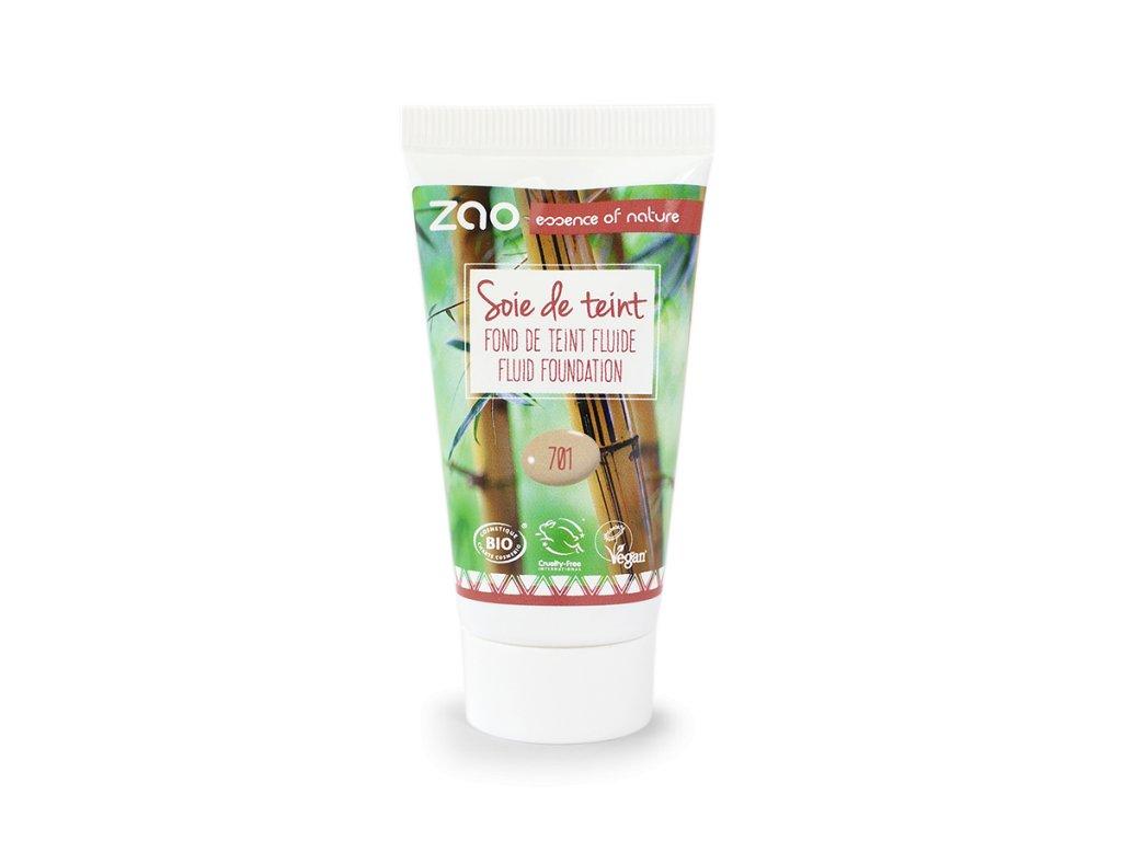 ZAO Hedvábný tekutý make-up 701 Ivory náplň 30 ml