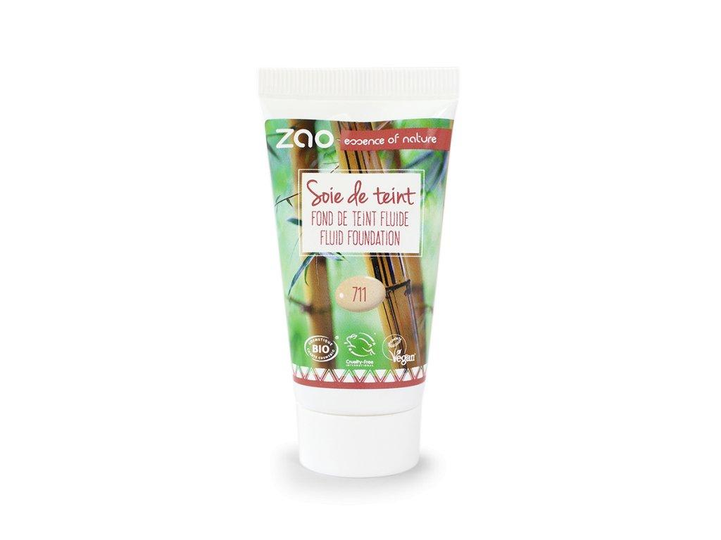 ZAO Hedvábný tekutý make-up 711 Light Sand náplň 30 ml