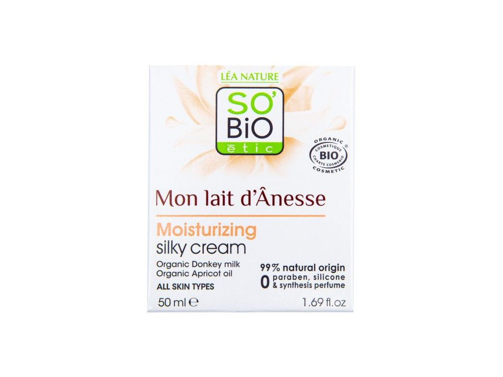 SO'BiO étic Krém hedvábný hydratační s obsahem oslího mléka 50 ml BIO SO'BiO étic