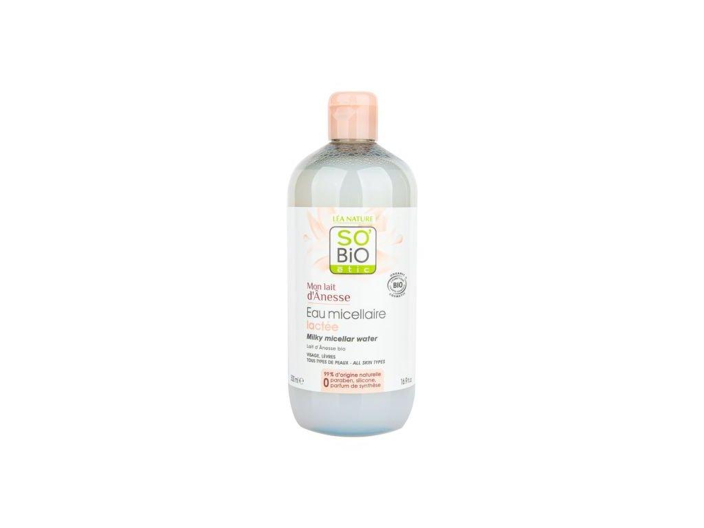 SO'BiO étic Voda micelární s oslím mlékem 500 ml BIO