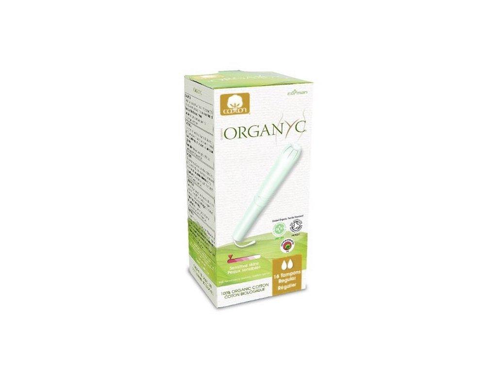 Organyc Tampony s aplikátorem Regular (16 ks) - 100% z biobavlny, 2 kapičky