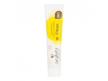Argiletz Zubní pasta s bílým a žlutým jílem citron 75 ml BIO