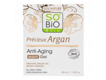 SO'BiO étic  Gel noční Anti-age  Precieux Argan 50 ml BIO