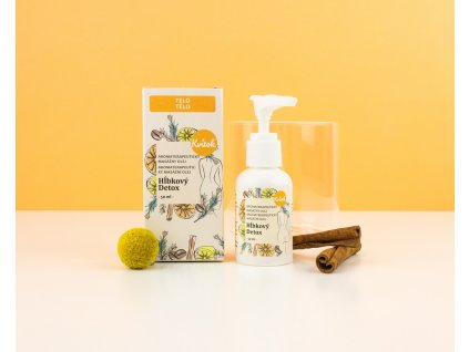 Kvitok Masážní olej proti celulitidě Hloubkový detox BIO 50 ml