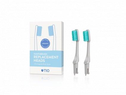 TIO Náhradní hlavice k zubnímu kartáčku (ultra soft) (2 ks) - oblázkově šedá