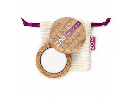 ZAO Třpytivé oční stíny 101 Pearly White bambusový obal 3 g